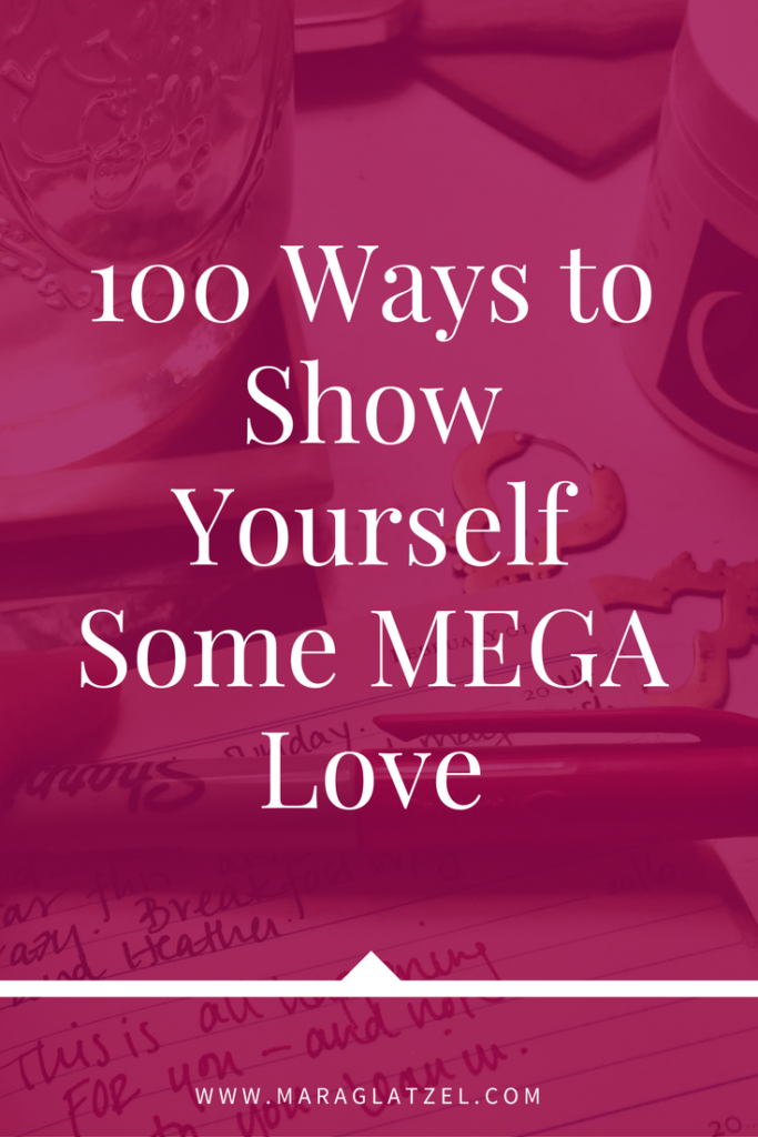Do you need some extra love? Click through to read about 100 ways to love yourself madly, truly & deeply. (Plus, many of them are free!)
