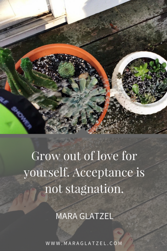 Are you worried that you will stop growing if you accept and cherish yourself? Click through to read more about the true difference between acceptance and stagnation.
