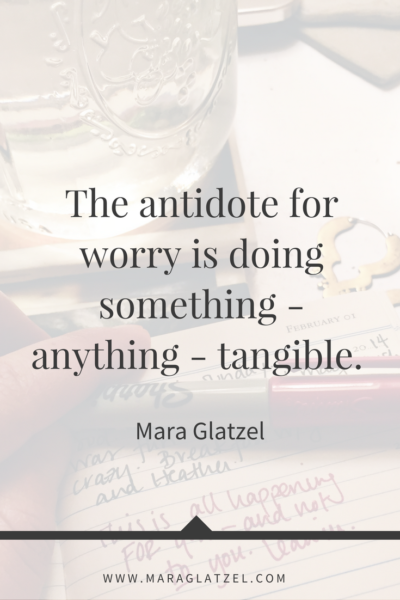 Are you spending your time worrying instead of taking action? Me too. Click through for a few tips on how to move from worry into a place of taking steps forward that feel really (really) good.