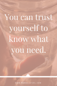 You need in layers depending on what you were taught to allow yourself. You need this, and... But you can trust needs, just as you can trust yourself to know what you need. {click the link to read the rest of the article}